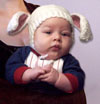 Baby Bunny Hat - blue ears REDUCED!